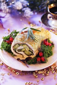 Roast turkey roll for Christmas-298396